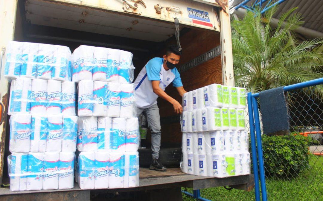 Alas Doradas en apoyo a los centros de cuarentena de El Salvador