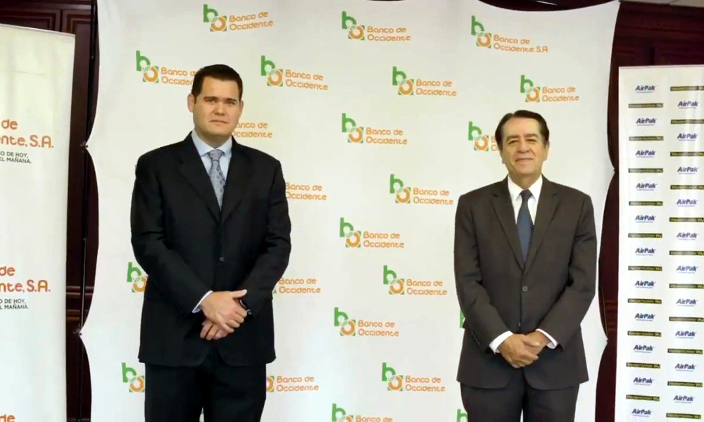 Convenio entre AirPak Honduras y Banco de Occidente